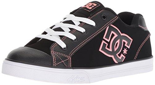 DC Girls' Chelsea SE Skate Shoe, Black/Pink, 2 M M US Little Kid