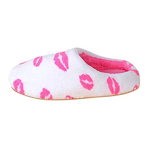 Zapatillas Casa para Mujer Cómoda Suave Slippers Pantuflas de Estampade Antideslizante...