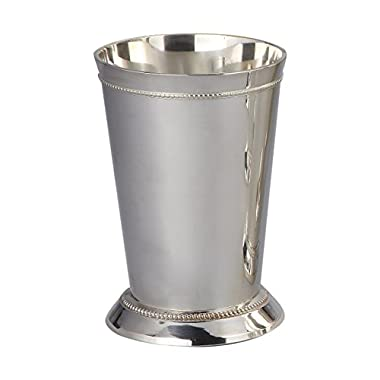 Elegance Silver 90371 Silver Plated Beaded Mint Julep Cup, 12 oz.
