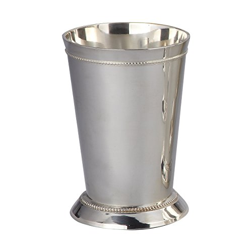Elegance Silver Plated Beaded Mint Julep Cup, 12 oz.
