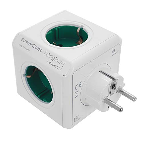 Steckdosenleiste Smart Cube, mit Reise-Adapter, Verlängerung für Ladegerät mit 5 Steckdosen, für Smartphone/Tablet