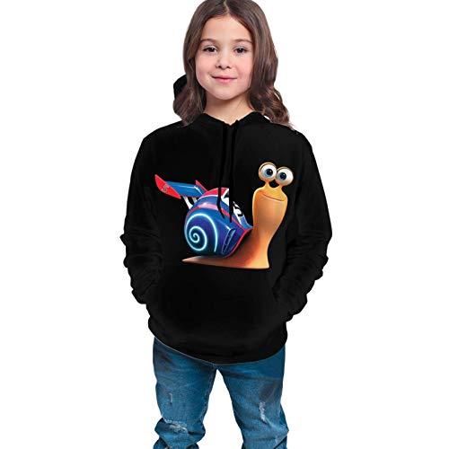 Lawenp Niños / jóvenes Tur Bo Snail E Suéter Unisex Niños 3D Imprimir gráfico Sudadera con Capucha Sudaderas Bolsillo