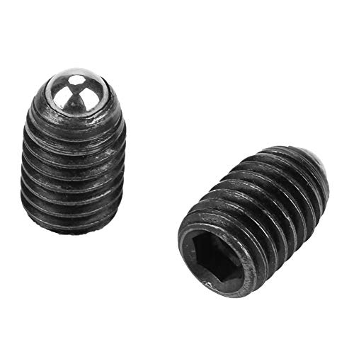 Marhynchus 10pcs M8 Carbon Steel Screw Thread Ball Black Spring Plungers Set Hex Socket Spring Plunger (M812)
