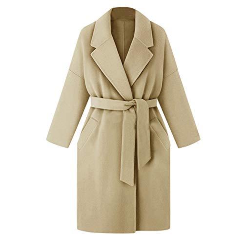 FRAUIT dames riem revers wollen jas trenchcoat lange gebreide jas long overcoat outwear mode elegant streetwear vrije tijd kleding blouse tops outwear