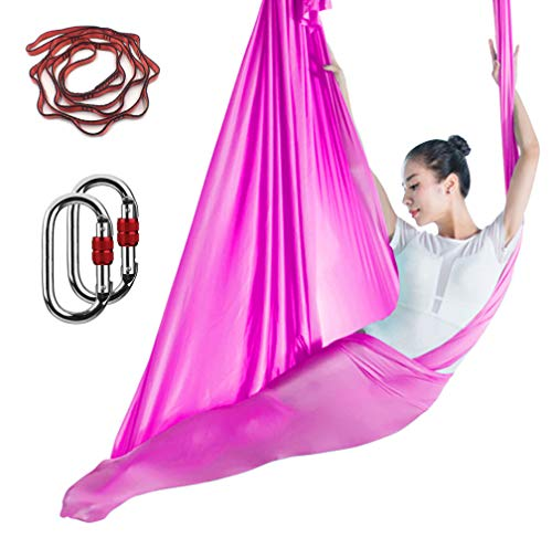 Read About KIKIGOAL Aerial Yoga Hammock Premium Aerial Silk Yoga Swing Antigravity Yoga Inversion Ex...