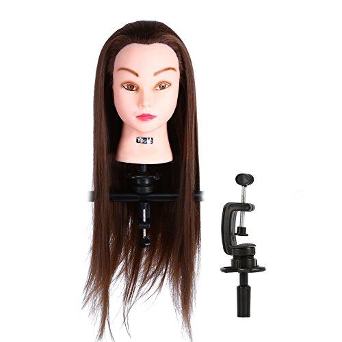 Training Head Mannequin Head Hair styling testa Cosmetologia bambola manichino, capelli sintetici e capelli parrucchiere training modello con morsetto