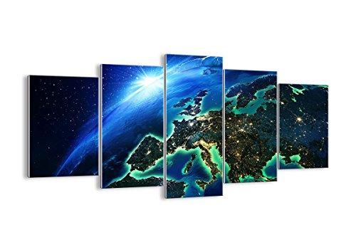 Quadro su Vetro - Cinque 5 Tele - Larghezza: 160cm, Altezza: 85cm - Numero dell'immagine 2816 - Pronto da Appendere - Elementi Multipli - Arte Digitale - Moderno - Quadro in Vetro - GEA160x85-2816