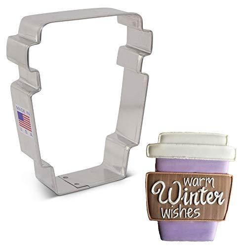 Ann Clark Cookie Cutters Flour Box Bakery Ausstechform für Latte / Kaffee, 9,5 cm