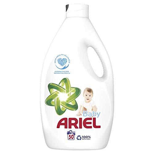 Ariel Baby Detergente Líquido 2.75 L, 50 Lavados, Óptimo Poder Antimanchas Incluso a 30 °C