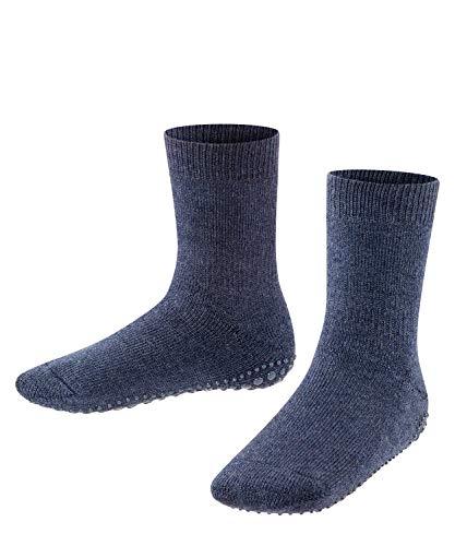 FALKE Unisex Kinder Hausschuh-Socken Catspads, Baumwolle Merinowolle, 1 Paar, Blau (Dark Blue 6680), 31-34 (7-9 Jahre)