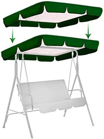 """popular labworkauto Swing Top Cover Canopy Replacement Shade Cover Waterproof UV Blocking Fit sale online for 3-Seat Swing Chair Tent Outdoors Garden Patio (66"""" x 45"""",Green) outlet online sale"""