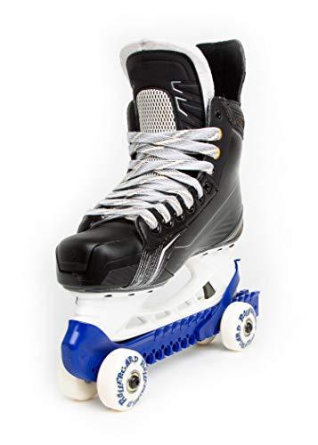 RollerGard Kufenschoner mit Rollen - Kufenschoner für Eishockey- & Schlittschuhe I Eishockeyschlittschuh-Schutz I Kufenzubehör I Blau - One Size