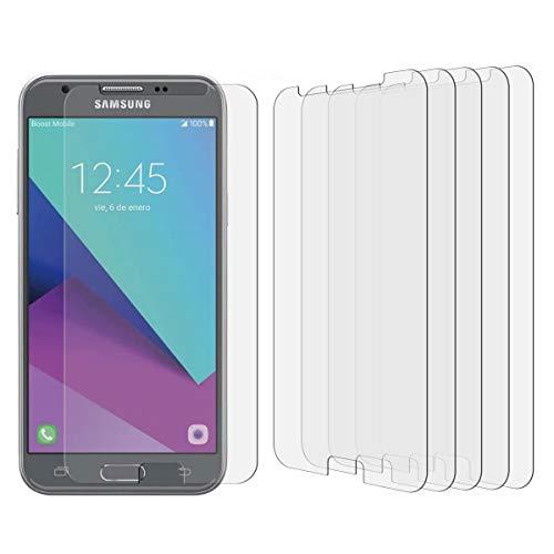 [5 Pack]Samsung Galaxy J3 Emerge / J3 (2017) / J3 Prime / J3 Luna Pro High Defintion Ultra Clear Screen Protector Film(Not Glass) For Galaxy J3 Emerge(HD Clear)