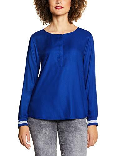 Street One Damen 341672 Vivian Bluse, Blau (Cobalt Blue 11784), (Herstellergröße:40)