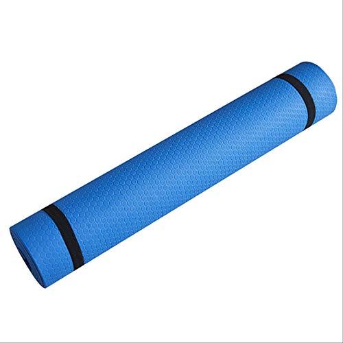 CARPET-STORE Estera de Yoga Antideslizante Estera de Fitness Deportiva EVA Engrosada cómoda Estera de Yoga de Espuma para Ejercicio, Yoga y 173cm * 61cm A Azul