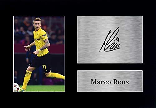 HWC Trading A4 Marco Reus Dortmund Geschenke, gedrucktes Autogramm für Fans und Fans – A4