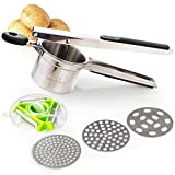 Best Potato Ricers - HouseOasis Potato Ricer with FREE 3 Bladed Vegetable Review