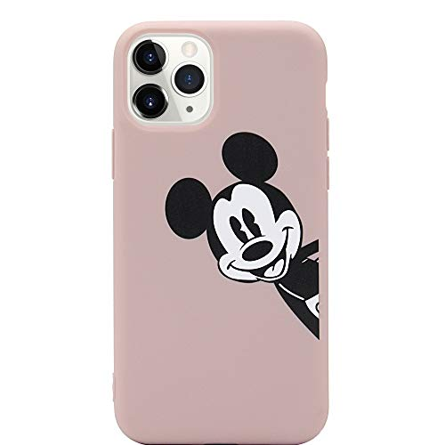 MC Fashion iPhone 11 Pro Max Case, Cute Printed Cartoon Mickey Mouse Case, Slim Fit Full-Body Protective Soft TPU Case for Apple iPhone 11 Pro Max 6.5 inch 2019 (Dusty Pink)