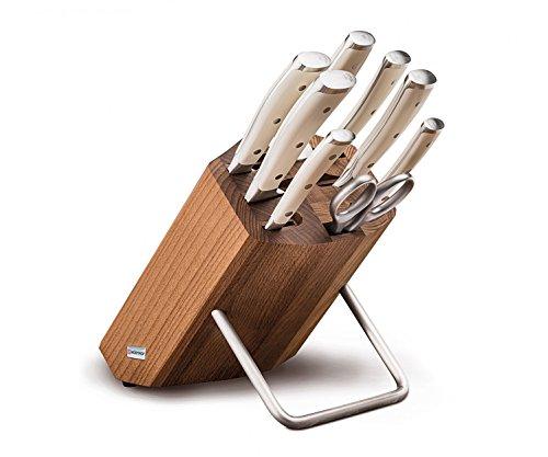 Wüsthof CLASSIC IKON Crème Messerblock - 9879 + kostenlos Yourkitchen Schneidebrett bamboo 33*23*1,8 cm