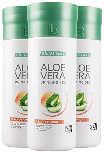 LR LIFETAKT Aloe Vera Drinking Gel Pfirsich Nahrungsergänzungsmittel (3x 1000 ml)