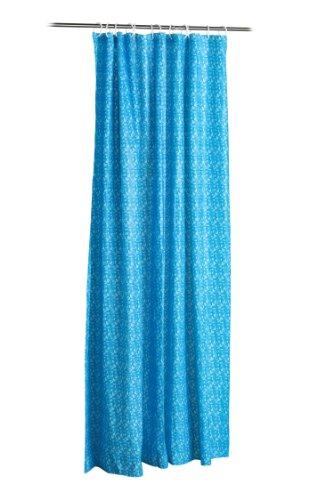 Premier Housewares Duschvorhang mit Mosaik-Design, Blau blau