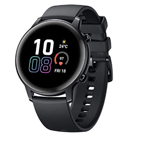 "HONOR Magic Watch 2, Pantalla 1.39 ""AMOLED, Kirin A1, GPS GLONASS, 6 sensores, IP68, batería 455 mAh, 42 mm, Negro"