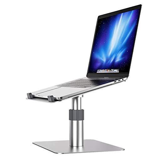 SHUFEI Soporte Aluminio para Computadora PortáTil, Ocho Soportes Verticales Ajustables para Computadora Escritorio, Compatible con Todas Las Computadoras PortáTiles 11 A 17'- Plata