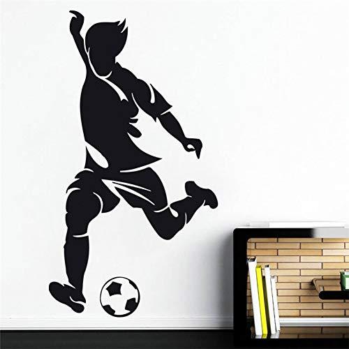 sxh28185171 Calcomanía fútbol Etiqueta de la Pared Equipo de Deportes Sala de Juegos calcomanía niños decoración del hogar Pared Sala de Dibujos Animados Etiqueta de la pared58 X 32 CM