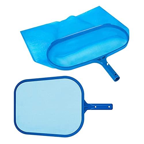 Herramientas de limpieza de piscinas 2 unids Pool Skimmer Net Red Herrado Bolsa De Fondo Profundo Piscina Rake Hoja Skimmer Net con Malla Fina Mediana Se adapta al Estándar Conveniente y duradero