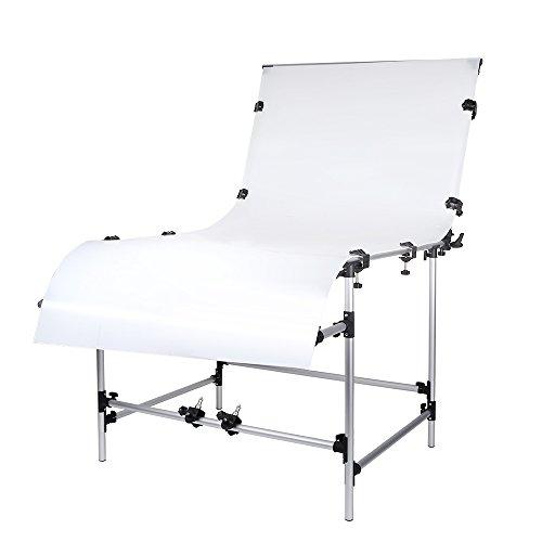 Andoer, tavolo fotografico per studio di fotografia, 100 x 200 cm, per nature norte, telaio in lega di alluminio