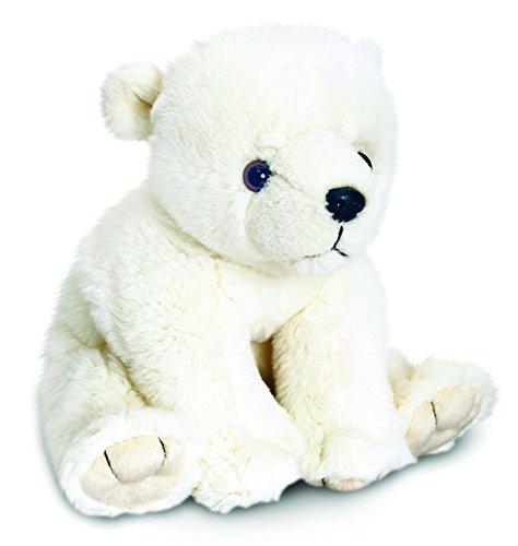 Lashuma Plüschtier Eisbär, Keel Toys Kuscheltier weißer Teddybär, Stofftier Polarbär 25 cm