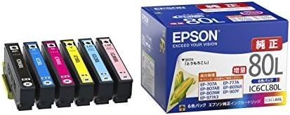 エプソン 純正 インクカートリッジ とうもろこし IC6CL80L 6色パック 増量
