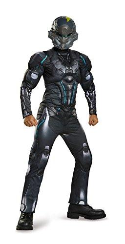 Spartan Locke Classic Muscle Halo Microsoft Costume, Large/10-12