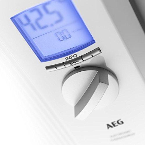 AEG vollelektronischer Durchlauferhitzer DDLE ÖKO TD, 27 kW, LCD, ECO-Funktion, Regendusche, 222399 - 2