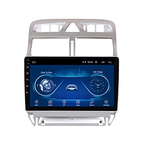 Android Car Stereo Audio Satellite Navigator Radio Fm Gps Navigation - Aplicable Para PEUGEOT (307) 2002-2013, Unidad Principal De 9 Pulgadas Reproductor Automático Multimedia,4 core-WIFI: 2+32G