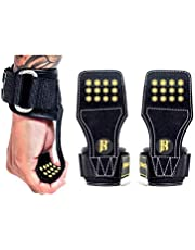 Weight Lifting Grips With Wrist Straps - Lifting Straps With Power Grip For Deadlifts - Weightlifting Gloves For Max Weight & Reps - Non-slip Weight Lifting Wrist Straps With Lifting Grips (Pair)