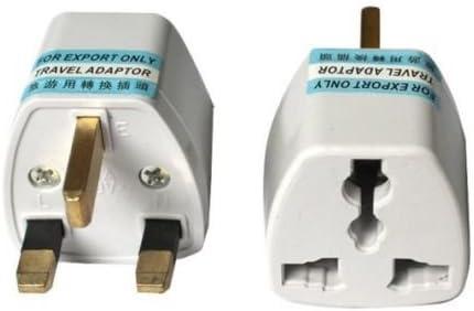 Travel Power Plug Converter - Travel Adapter Plug - High Performance Universal - Ultra Compact (UK/HK, 3 Pack)