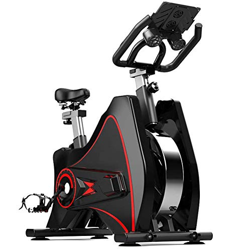 Review Exercise Bikes, Studio Quality with Heart Rate Monitor Large Bidirectional Flywheel12kg Belt ...