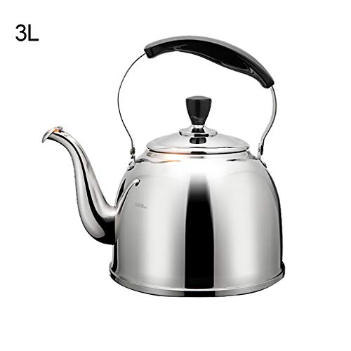 Whistling Stove Top Kettle Teiera con strati della capsula manico in silicone inferiore in acciaio inox finitura a specchio Tea Pot Kitchen Aid Teiera per vari Stufe