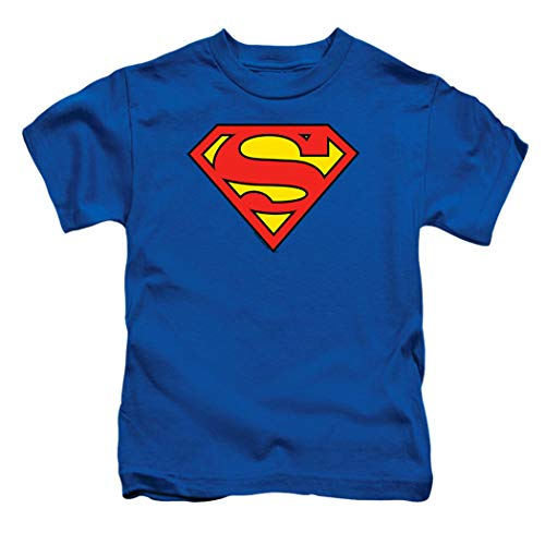 Toddler Superman Classic Logo T Shirt & Stickers (2T)