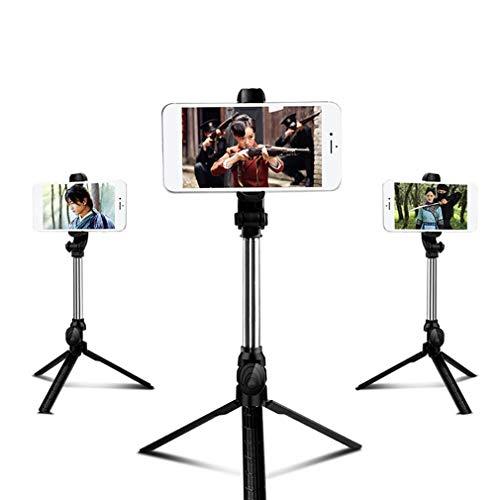 Estirable Trípode Soporte para teléfono con cámara Trípode Incorporado Removible Bluetooth Remoto 360 Cabezal de rotación y Soporte para Selfie Fotografía Maquillaje