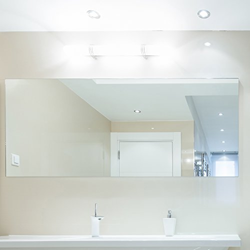 """Fab Glass and Mirror Rectangle Frameless Wall Mirror, 30"""" x 40"""