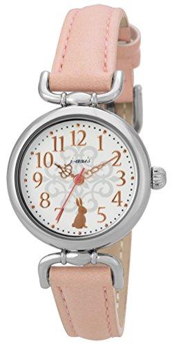 [J-アクシス] 腕時計 アンティークアニマルアイコンウォッチ HL194-PI ピンク