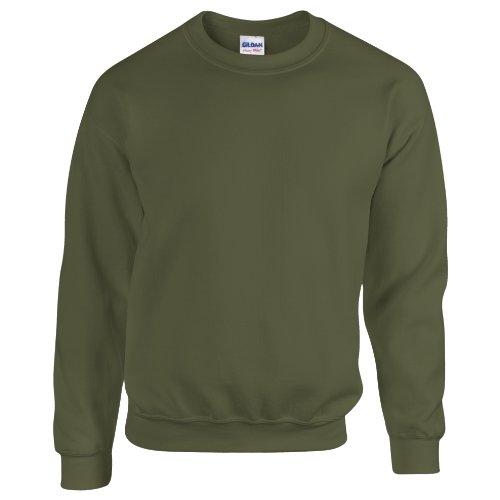 Gildan Herren Sweatshirt, Militärgrün, S