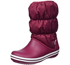 Crocs 14614 WINTER PUFF BOOT Nylon Shaft for Warmth Ladies Boots Navy//White