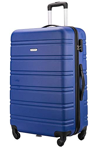 FLYMAX 24' Medium Super Lightweight ABS Hard Shell Travel Hold Check in Luggage Suitcase with 4 Wheels Trolley Bag