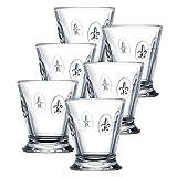 FLEUR Glas mit Lilienwappen 250ml