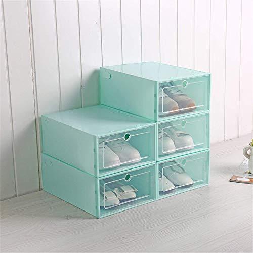 Maoviwq Caja de zapatos 6 unidades de plástico para cajones y zapatos, caja de almacenamiento apilable, organizador de zapatos para mujer y hombre