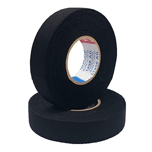 Automotive bedrading harnas tape zelfklevende doek bedrading harnas tape hoge temperatuur resistente flanel tape slijtvaste ruis-navigatietape voor doos autos roll tool (Color : 19MM)
