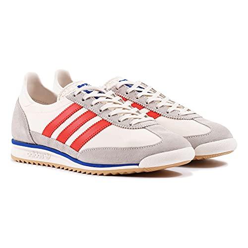 adidas SL 72, Scarpe da Ginnastica Uomo, Chalk White/Red/Power Blue, 48 EU